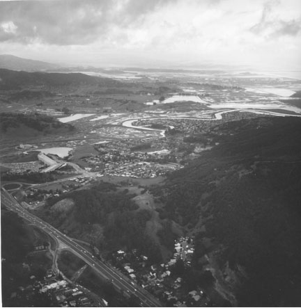 aerial view of Gallinas