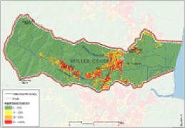 Miller Creek Imperviousness Map